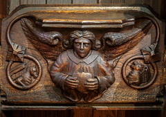 Misericord - Bridlington Priory (Roger Walton) Tags: uk bridlington gbr eastyorkshire churchfurniture misericords