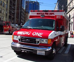 Seattle Fire Department/Medic One/M10 (zargoman) Tags: seattle water truck fire smoke police hose burning emergency firefighter department firefighters response dispatch