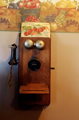 Call Me Maybe... (NickyJameson) Tags: wood old ontario canada history metal fruit vintage call phone bell farm telephone orchard historic winery coolpix receiver connection icewine applewood stouffville icecider cans2s l810 nikoncoolpixl810 nickyjameson