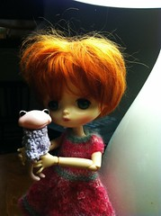 A new toy! (violetpie) Tags: wanda berry doll dress iphone jerryberry wonderfrog primrosepettigrew