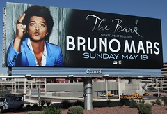 He May Be Locked Out Of Heaven . . . (tossmeanote) Tags: street las vegas blue mars black club night canon advertising eos outdoor gene nevada ad property bank billboard nightclub nv peter advert bruno hernandez connell 24105 2013 60d lightgroup tossmeanote