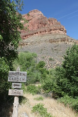 Trail Sign, Bright Angel Trail, Grand Canyon NP (0736) (landrysg) Tags: camping arizona usa landscape nationalpark bright grandcanyon grandcanyonnp
