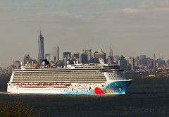 Norwegian Breakaway (JVierno77) Tags: city nyc cruise sea ny newyork color art skyscraper canon buildings bay harbor boat ship norwegian sailor statenisland 70300mm damncool 60d