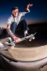 Fakie 5o Yank (Cherryrig) Tags: park night nikon skateboarding wizard flash fisheye skatepark pocket 16mm strobe lightroom pw sb800 lumedyne pocketwizard churchdown d700 cherryrig 16mmf28afdfisheye p2xx