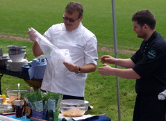 Chef Nigel Haworth at the Fantastic Food Show - at the BBQ demo (Tony Worrall Foto) Tags: show uk england food cooking fun fry football fantastic stadium year sunday may cook 4th bbq lancashire blackburn event chef pitch celeb cooks 19th potsandpans foodie lancs returned foodshow ewoodpark 2013 chefswhites haworths nigelhaworthsfantasticfoodshow