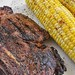 Mmm... rib steak and sweet corn