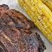 Mmm... rib steak and sweet corn