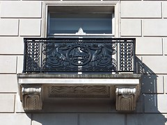 Martins Bank window (lady.bracknell) Tags: window architecture liverpool octopus artdeco ironwork waterstreet kraken exchangeflags martinsbank martinsbankbuilding