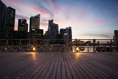 Marina Bay (Wolff 2.0) Tags: sunset night nikon singapore cityscape clear bluehour mbs marinabay d700