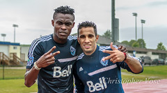 Gershon Koffie and Camilo Sanvezzo (The Vancouver Herald) Tags: canada vancouver training football britishcolumbia soccer dominion cascadia mls majorleaguesoccer nsdc 2013 associationfootball westernconference dominionofcanada trainingsessions vancouverwhitecapsfc gershonkoffie camilosanvezzo vwfc nationalsoccerdevelopmentcentre dhillonfield