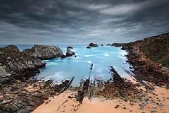 The Alignment (CResende) Tags: longexposure seascape lines clouds coast search spain rocks north le discovery cantabria alignment liencres biscaya urros cresende northphototours