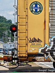 Ichabod (INTREPID IMAGES) Tags: street railroad color art train bench circle t graffiti fan paint steel painted tracks rail railway trains images 63 yme railcar intrepid boxcar graff grab ich freight rolling ichabod itd sfl benching intrepidimages