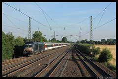 DB 182 570 + EC 6, Duisburg-Rahm 26-07-2013 (Henk Zwoferink) Tags: 120 ic siemens 7 db 111 sbahn dusseldorf duisburg henk 118 ec rahm fernverkehr es64u2 zwoferink