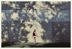Michelle - 2014 Senior (emmakatka) Tags: blue trees shadow portrait ballet brown tree senior girl grass wall hair ballerina long bokeh