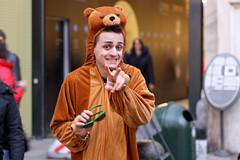 falso orso (Zioluc) Tags: bear street boy torino costume turin luciobeltrami