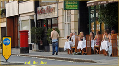 `909 (roll the dice) Tags: westminster sw1 victoria pimlico streetphotography uk art classic urban unaware unknown stranger candid portrait diner indian lunch food restaurant pants underwear bum trousers mad funny wisdom reaction natural sagging topless man straatfurniture pillarbox mil slacks waist lowrise women shocked fashion london sad nikon people hot sunny england eat soup loca local loco