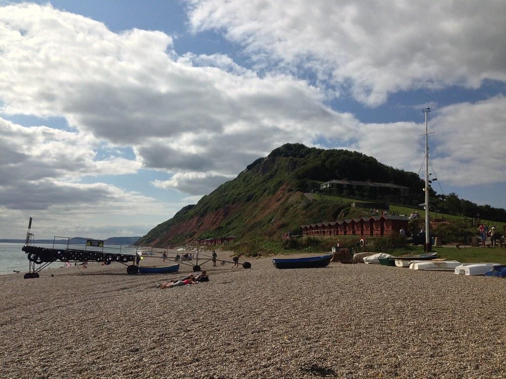 Beach huts on Branscombe Beach - Branscombe, Devon