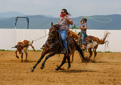 Dublin (4) (Subitman12) Tags: horse virginia cowboy action country competition rodeo cowgirl steer horseriding teamwork roping newrivervalley teamroping dublinva