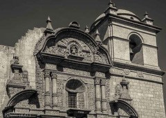 Arequipa Cathedral, Peru (Peraion) Tags: building peru southamerica beauty architecture cathedral details blackandwhile arequipa