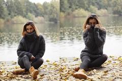 Womens turtleneck wool sweater (Mytwist) Tags: woman wool female fetish sweater turtleneck knitted brunette slave wolle sweatergirl rollneck rollkragen handgestrickt grobstrick