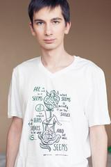 T-shirt from Miu Mau and David Scribbles (Oleksii Leonov) Tags: portrait selfportrait 50mm tshirt ukraine muse kyiv miumau a700 i sal50f14 700 dslra700 sonydslra700 sonyalphadslra700 davidscribbles