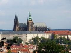Prague Castle seen from Petrin Hill (romanboed) Tags: travel castle europe republic czech prague praha hrad petrin cesko