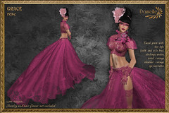 DANIELLE Grace Rose (Dani Plassitz ~Danielle~) Tags: pink stockings lace formal gloves corset gown elegant breastcancer eyemask tottoo