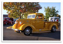 Sunset Chevy (bogray) Tags: cruise classic chevrolet yellow vintage lexington ky pickuptruck historic restored preserved carshow itttech
