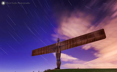 Gateshead Angel of North (Star Trail) (Silent Eagle  Photography) Tags: uk england angel canon photography star long exposure silent eagle north tyne wear gateshead trail sep silenteagle09