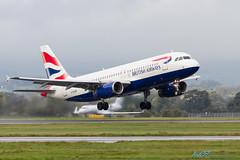 G-EUUR A320-232 British Airways (kw2p) Tags: scotland unitedkingdom glasgow aircraft aviation aeroplane airbus paisley britishairways airliner glasgowairport a320232 egpf egpfgla geuur