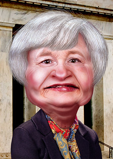 Janet Yellen - Caricature