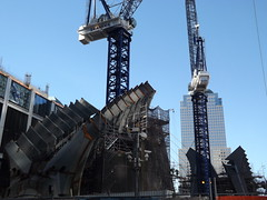 The World Trade Center Transportation Hub Begins to Rise, Santiago Calatrava Designer, Lower Manhattan, New York City (lensepix) Tags: newyorkcity lowermanhattan santiagocalatrava newarchitecture newyorkarchitecture worldtradecentertransportationhub santiagocalatravadesigner santaigocalatravaarchitect