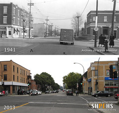 Jean-Talon at Querbes (1941 & 2013) (SHPEHS) Tags: 1940s beforeandafter 1941 parkextension builtheritage jeantalonouest