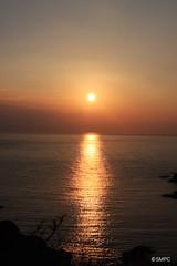 Setting sun of Kuniga Coast (OK!OKi) Tags: sunset sea nature japan islands coast lookout  shimane geo  oki     nishinoshima geopark kuniga