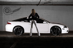 Telephoto Eclipse (Tolga Cetin Photography) Tags: street white ass car contrast race canon drag photography japanese eclipse high model pants angle image wide tires tokina telephoto import mitsubishi because dsm tolga hoosier cetin strobist