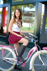 Summer Vibes (Bhlubarber) Tags: city portrait urban woman bike bicycle vancouver cycling ride boots wheels transport el cycle heels editorial chic schwinn velo naturalista momentummag