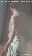 Giulio Cesare Prati Contadino olio su tela 101x61cm Collezione privata rifilata