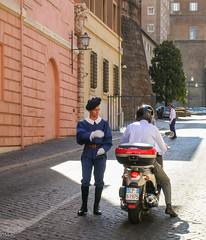 On regular duty (Tiigra) Tags: 2007 italy rome vatican bike city color dress people road working vaticancity