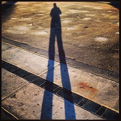Me and my shadow catch last San Francisco sunset of 2013 along the Embarcadero (Fuzzy Traveler) Tags: sanfrancisco sunset shadow square squareformat embarcadero mayfair iphoneography instagramapp uploaded:by=instagram