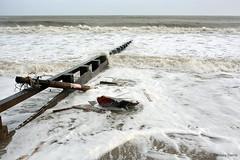 Boat smashed to pieces at Swanage, Dorset (Lindsey_H) Tags: sea flooding dorset floods stormdamage hightide stormyweather stormdebris windyweather swanageseafront swanagestorms