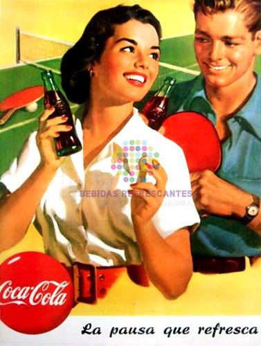 """Coca Cola. """"La pausa que refresca"""". Años 50"""