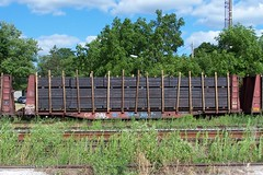 CP 405139 work service bulkhead flatcar with a load of new ties Woodstock, Ontario Canada 07202007 ©Ian A. McCord (ocrr4204) Tags: railroad ontario canada train wagon kodak rail railway pointandshoot canadianpacific mccord cp woodstock cpr cprail z740 freightcar ianmccord ianamccord