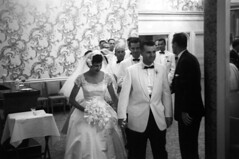 083659 06 (ndpa / s. lundeen, archivist) Tags: flowers wallpaper people blackandwhite bw woman man film monochrome 35mm groom bride blackwhite veil nick bowtie august tuxedo 1950s bouquet weddingparty gown weddingdress groomsmen tux blacktie weddingreception 1959 unidentified formalattire dewolf bowties bridalgown whitetuxedo nickdewolf whitetuxedos photographbynickdewolf blacktuxedo locationunidentified
