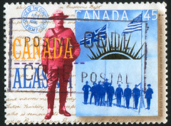 Canada 0542 m (roook76) Tags: old portrait people canada man male face alaska vintage hair person ancient message adult mail serious head antique postcard 1996 police historic retro stamp yukon human seal envelope letter aged postage policeman postmark philately