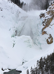 Lower Falls of the Yellowstone; (YellowstoneNPS) Tags: winter snow ice nationalpark waterfalls yellowstonenationalpark yellowstone