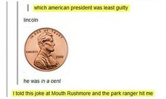 Abe Lincoln Pun (BrainofJT) Tags: silly funny lol memes puns pundamentals
