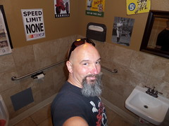 Birthday Selfie (cjacobs53) Tags: sun sports glass sunglasses bar self bathroom goatee bath room bald picture grill cj restroom rest jacobs clarence porters jacobsusa