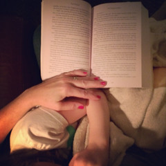 Snuggles. (www.contemplatingtheexquisite.typepad.com) Tags: love reading book moments quiet motherhood embrace