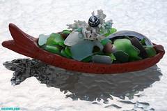 FishBoatFullOfSeaGlass (mcshots) Tags: california usa home glass coral ceramic coast boat stock patio socal flotsam mcshots seaglass beachcombing losangelescounty