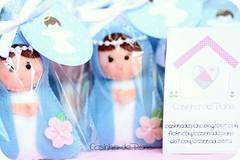 Mãezinha do céu (Casinha de Pano) Tags: handmade flor batizado felt feltro chaveiro lembrancinhas mãezinhadocéu